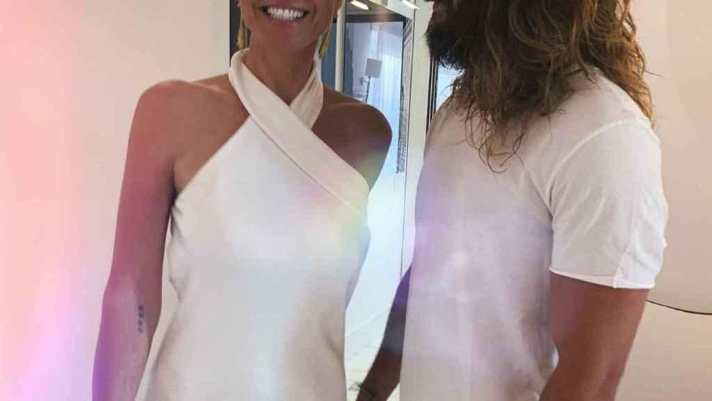 Heidi Klum y Tom Kaulitz en una imagen de redes sociales.