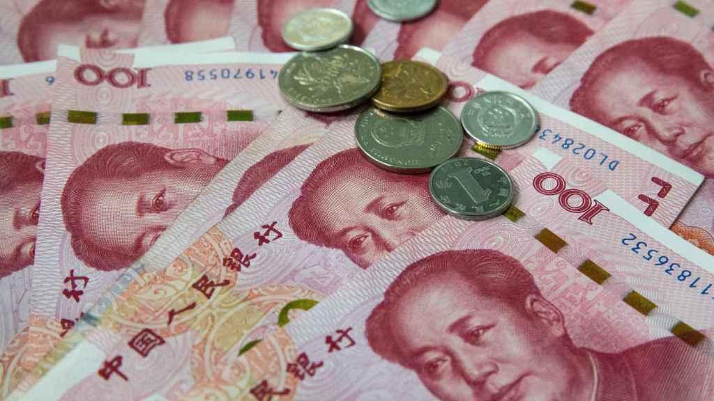 Billetes y monedas de curso legal en China.