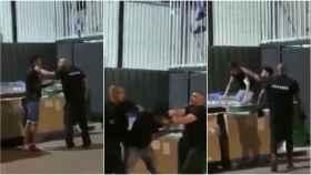 En las imágenes se puede observar los golpes que le propinaron a los dos chicos.