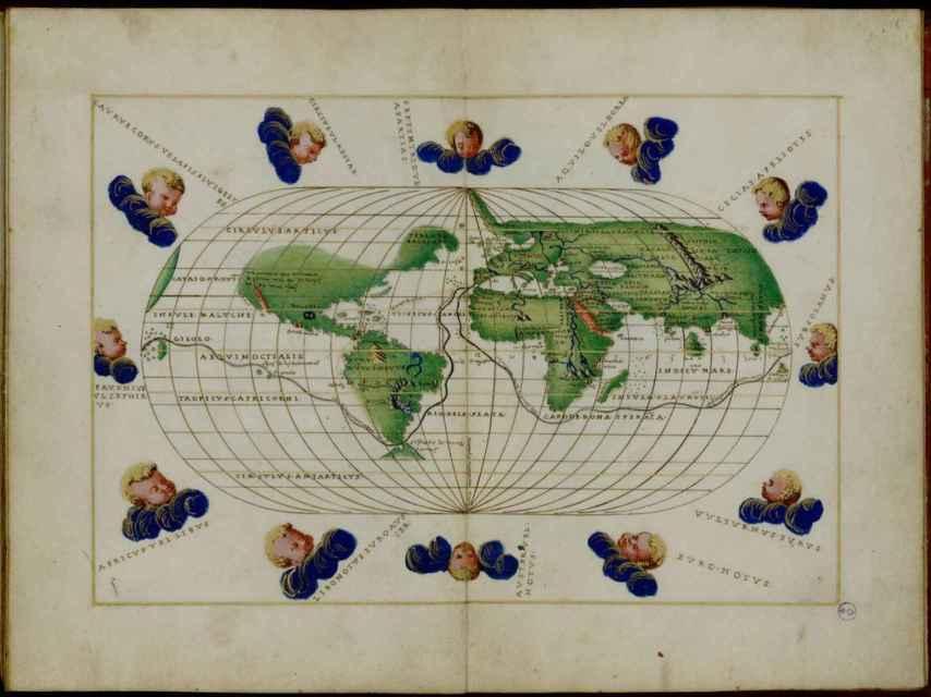 Atlas portulano de Battista Agnese, que describe el recorrido de la expedición de Magallanes y Elcano.