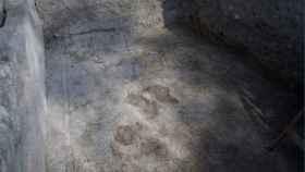 Un mosaico hallado en la que se cree ser la iglesia de los Apóstoles.
