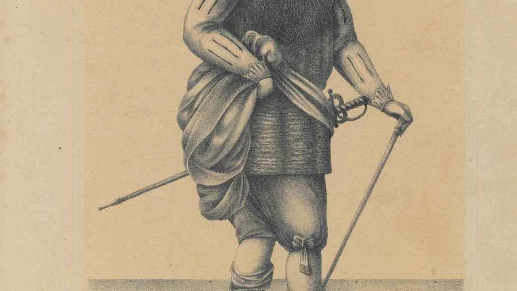 Fernando de Magallanes, dibujado por C. W. Andrews.