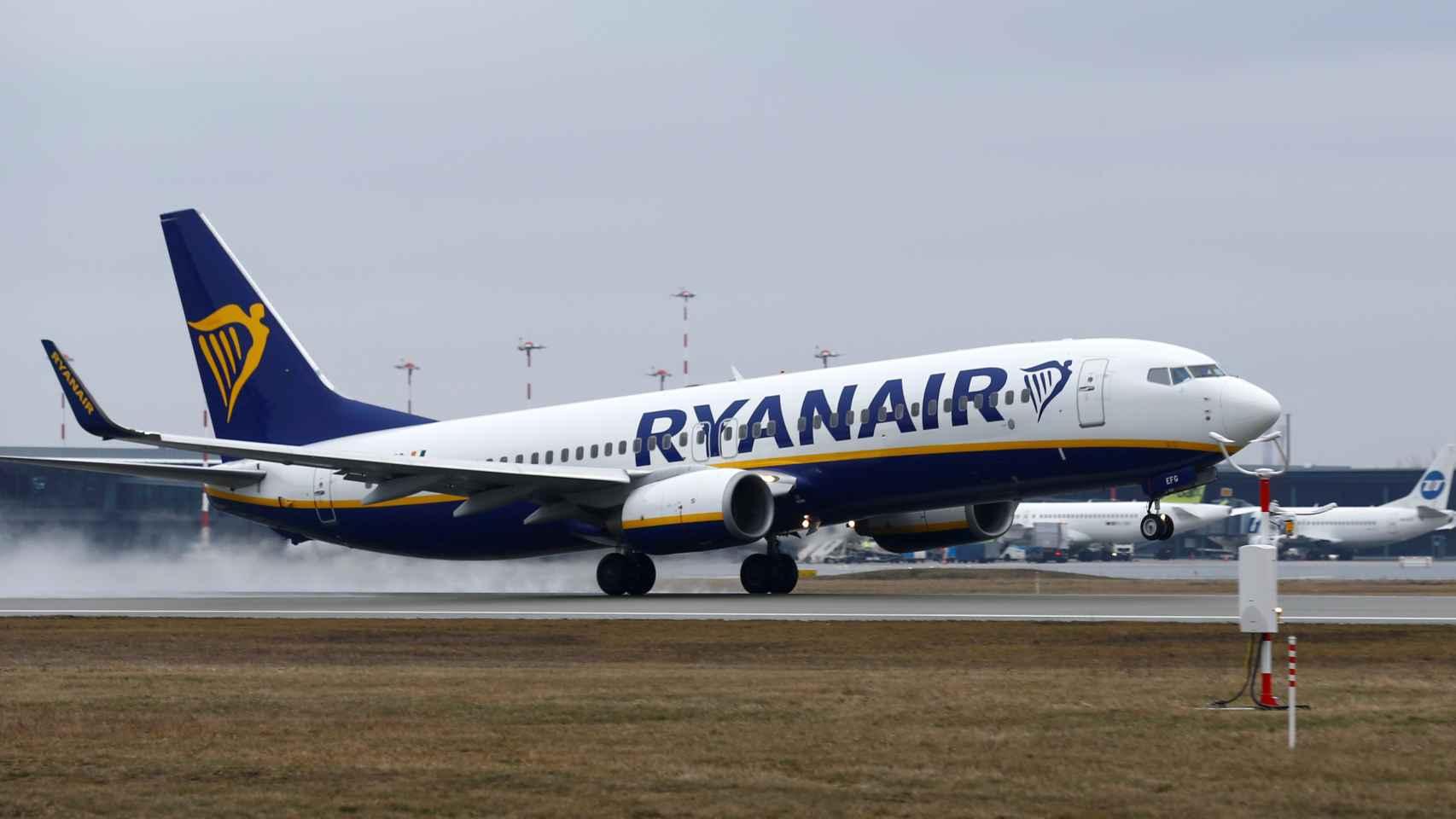 Avión de Ryanair, en una imagen de archivo.
