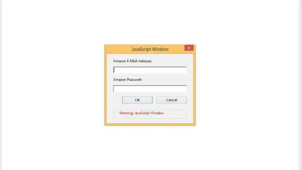 Mensaje del PDF falso de Amazon