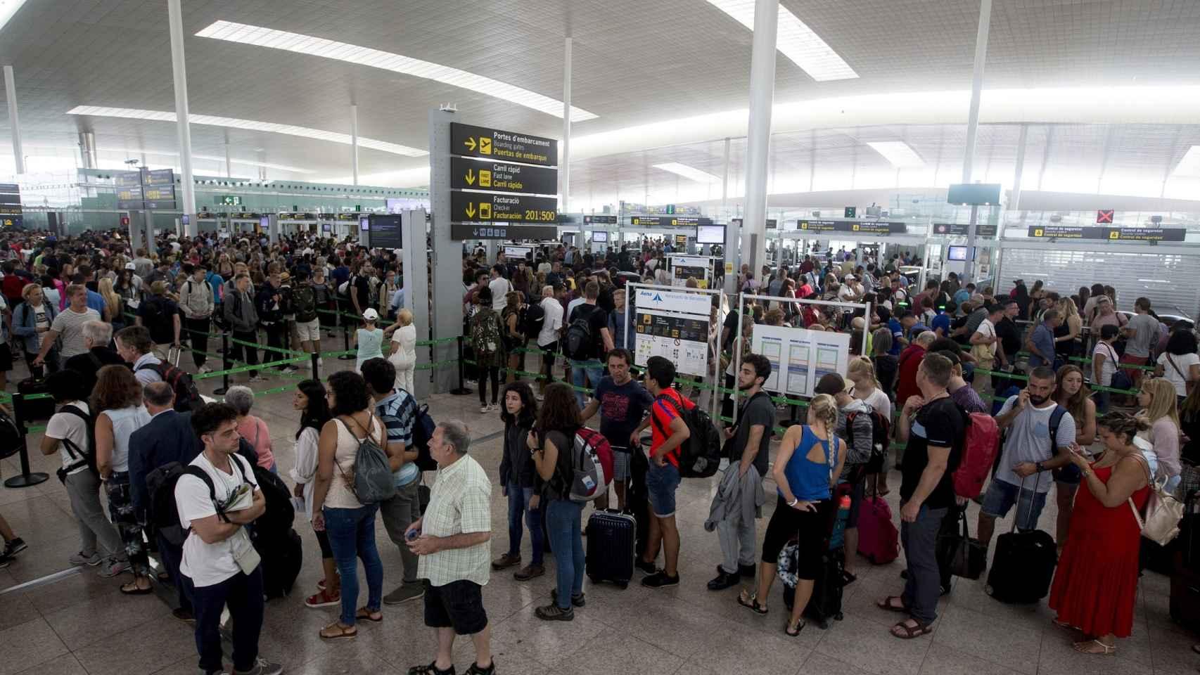 El aeropuerto de El Prat, en una imagen de archivo.