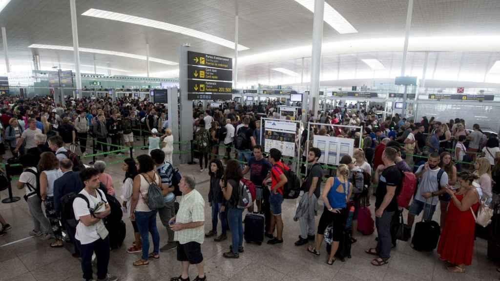 El aeropuerto de El Prat en una imagen de archivo