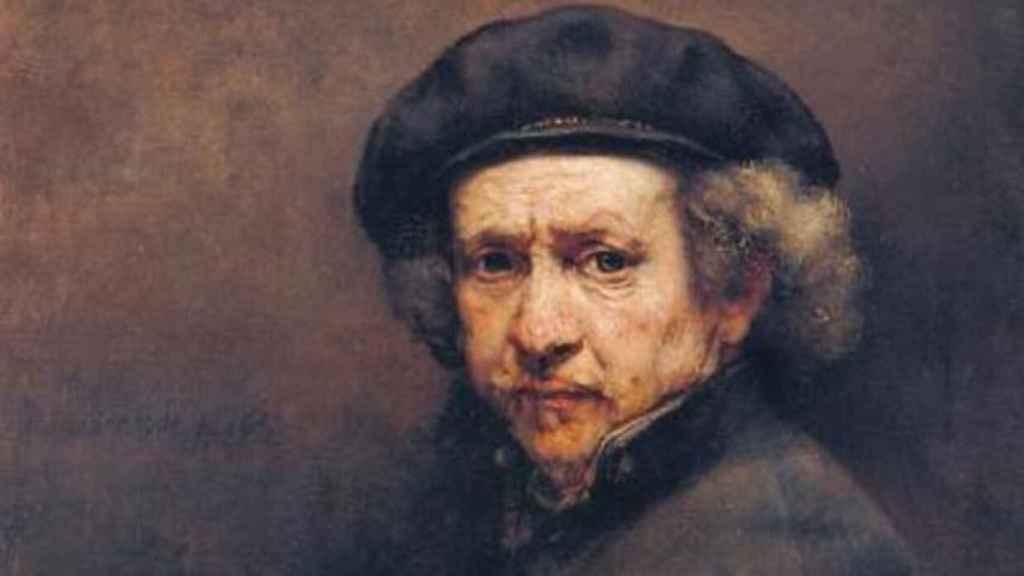 Rembrandt en su autorretrato.