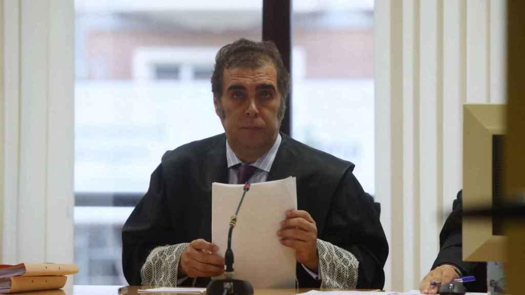 El magistrado Sánchez Magro, durante la vista del pasado miércoles./