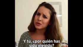 Una de las imágenes del vídeo de Gloria Santiago.