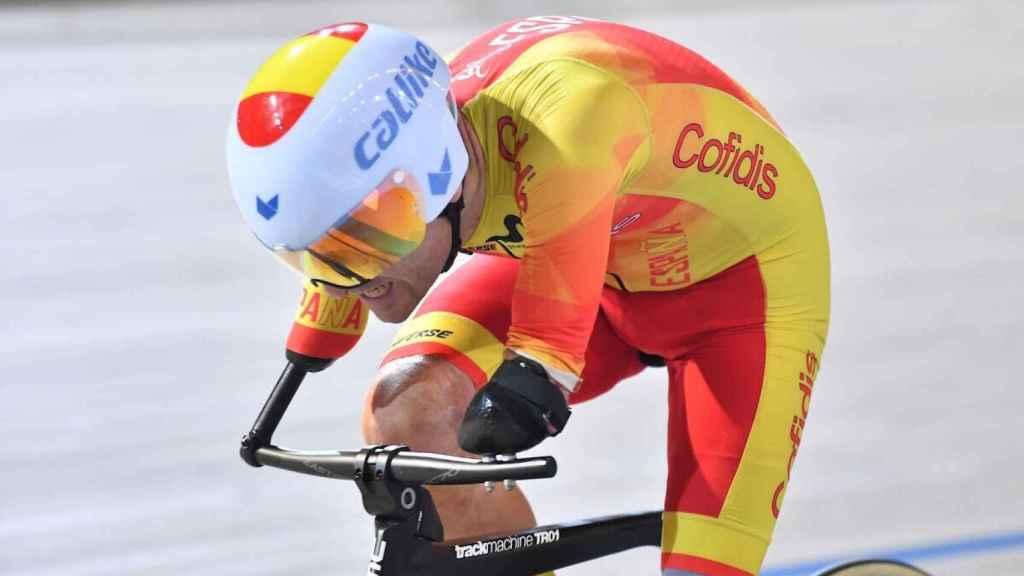 Ricardo Ten, en una prueba de ciclismo