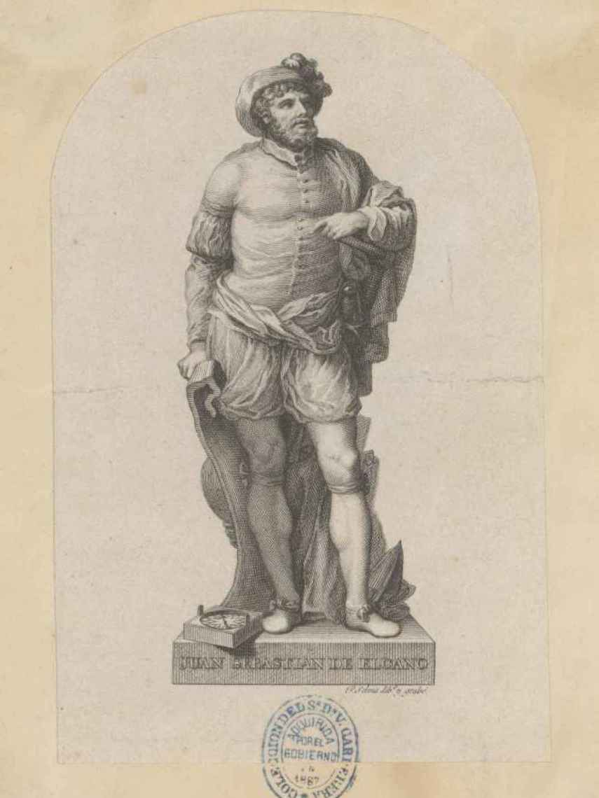 Retrato de Juan Sebastián Elcano.