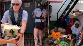 Richard Gere a bordo del Open Arms.