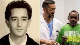 A la izquierda, Pedro Cavadas en su etapa universitaria; a la derecha, presenta el rostro y la mano reconstruidos de Lonunuku.