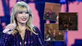 Taylor Swift en un montaje de JALEOS junto a algunas imágenes de su fiesta.