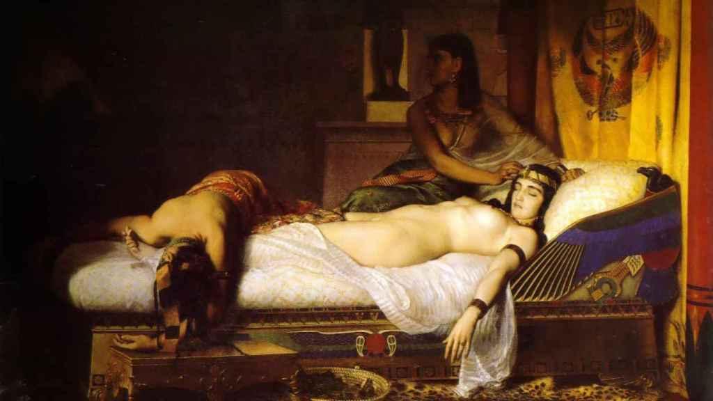 'La muerte de Cleopatra', de Jean André Rixens.