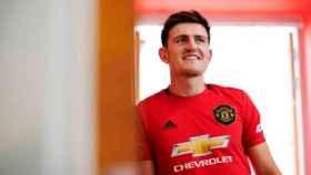 Harry Maguire, con la camiseta del Manchester United