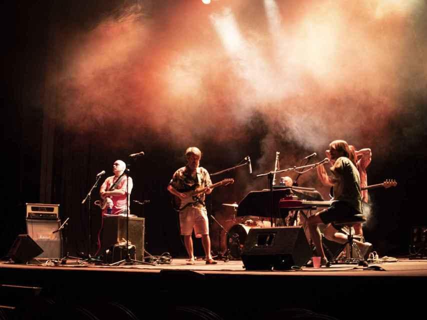 La Estrella de David en las pruebas de sonido de su concierto en el Pavón.