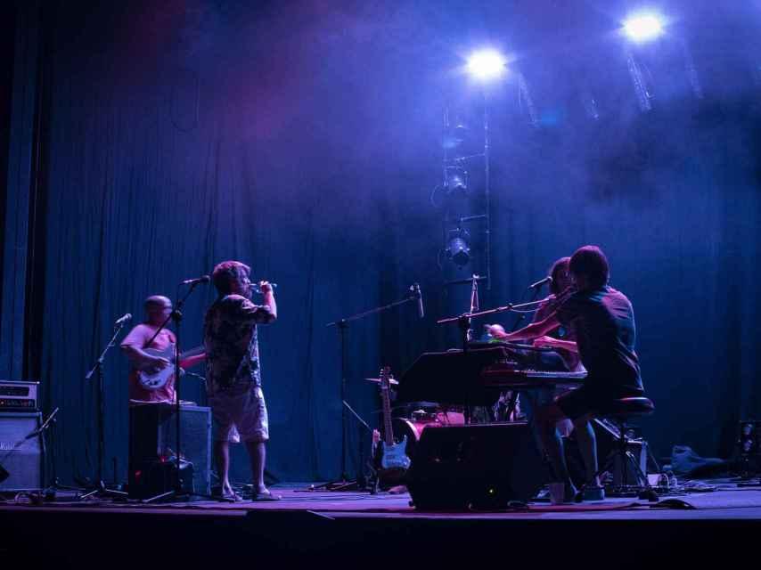 La Estrella de David en la prueba de sonido de su concierto en el Pavón.
