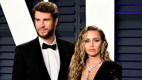 Miley Cyrus y Liam Hemsworth en imagen de archivo.