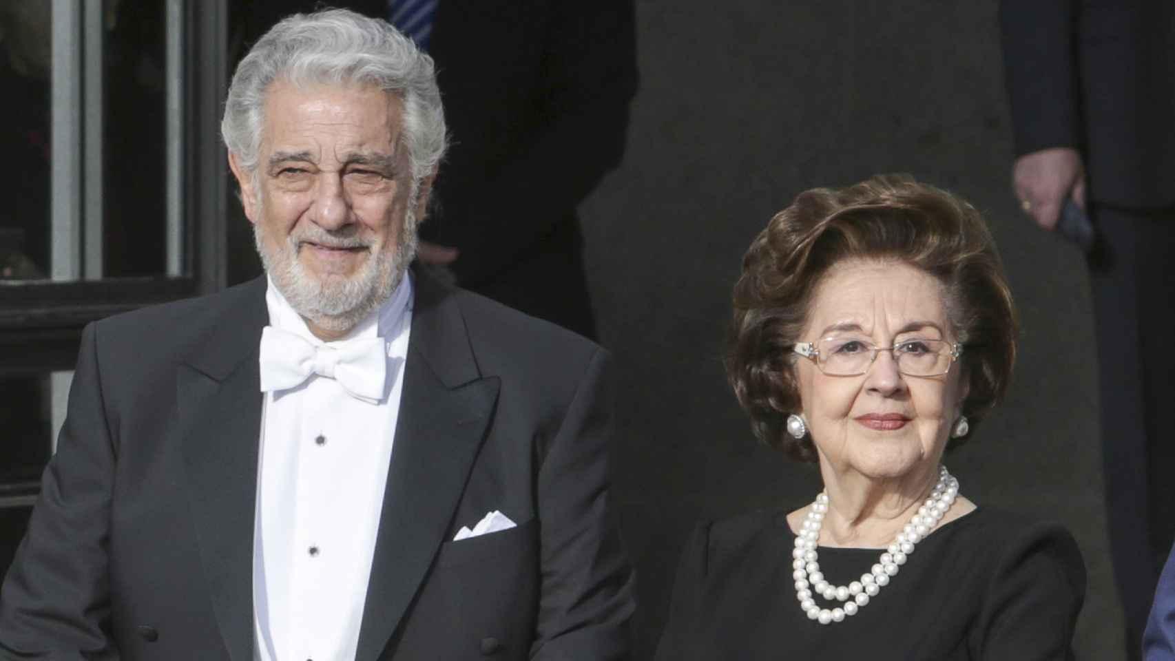 Plácido Domingo y Marta Ornelas en una imagen de archivo.