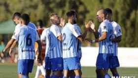 Varios jugadores del Málaga durante un partido de pretemporada. Foto: Twitter (@MalagaCF)
