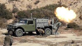 El 'alakran' es el nuevo vehículo porta-mortero, en fase de experimentación.