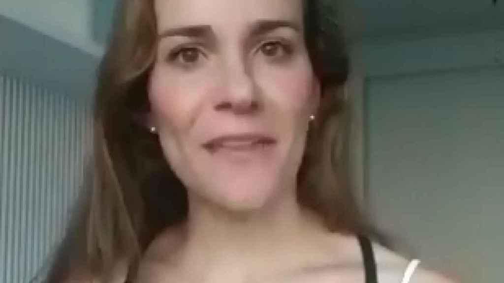 Isabel Pérez Moñino en el vídeo que publicó criticando a Évole
