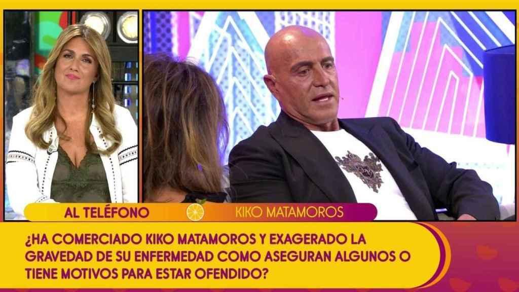 Kiko Matamoros, por teléfono en el programa 'Sálvame'.