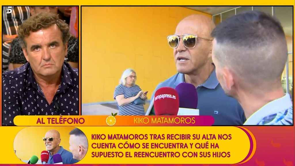 Kiko Matamoros, muy enfadado con sus compañeros de 'Sálvame'.