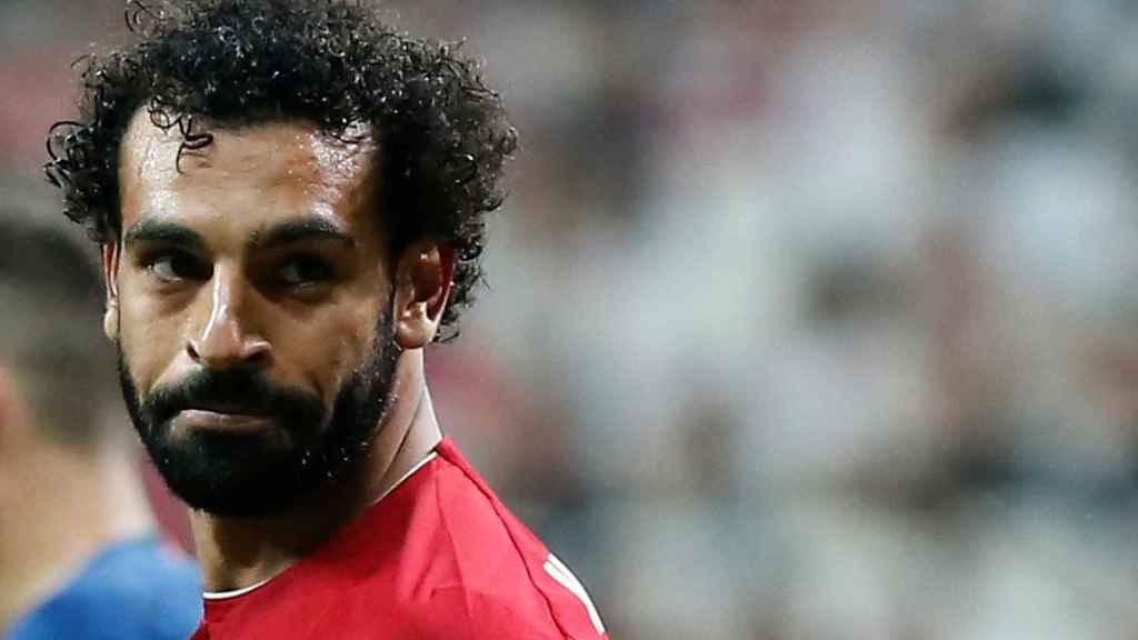 Salah, en la final de la Supercopa de Europa 2019 entre Liverpool y Chelsea