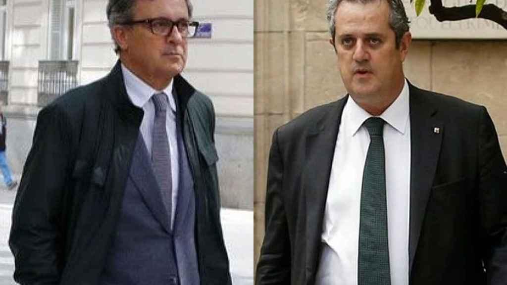 Jordi Pujol Ferrusola y Joaquin Forn.