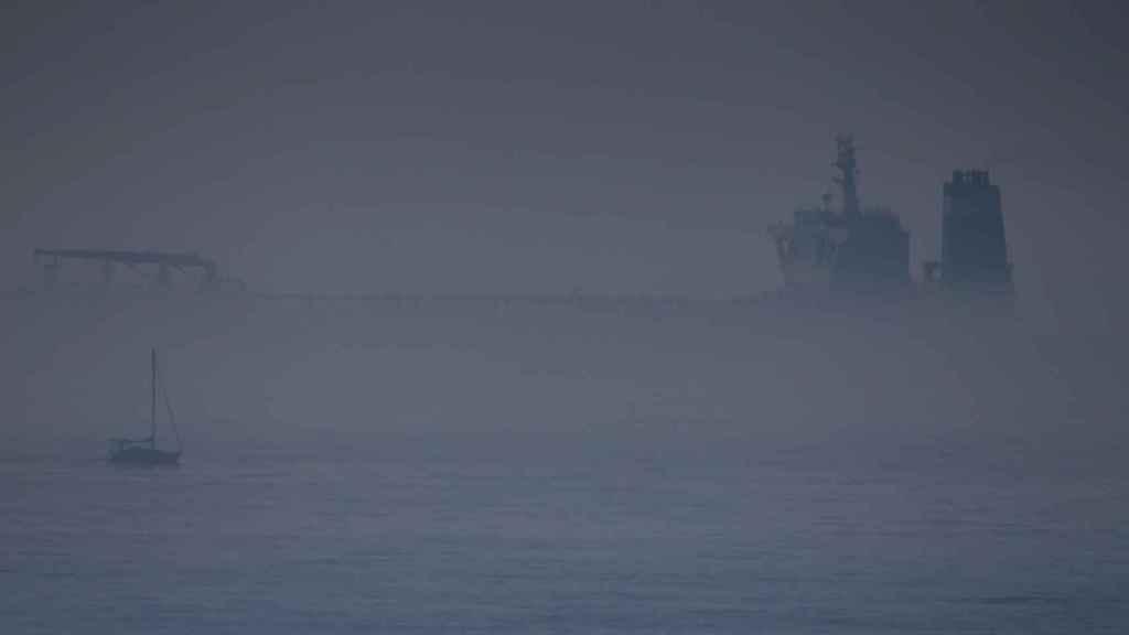Imagen del petrolero iraní 'Grace 1', retenido en Gibraltar.