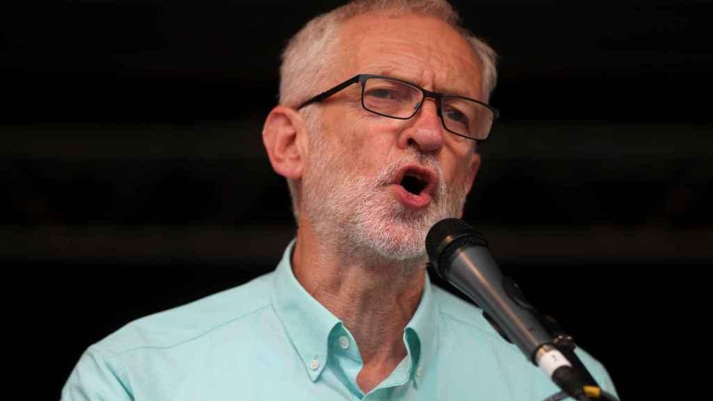 Jeremy Corbyn durante un acto del partido laborista en Londres