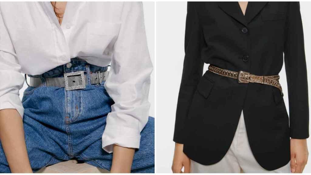 Zara propone estas dos opciones para usar los cinturones.