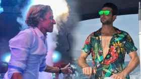 Javier Calle, novio de Alba Díaz, y Colate disfrutan juntos de la noche de fiesta de Marbella