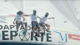 La tripulación del 'Aldebarán' durante una regata