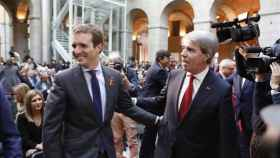 Pablo Casado y Ángel Garrido en el Homenaje a la Constitución en 2018.