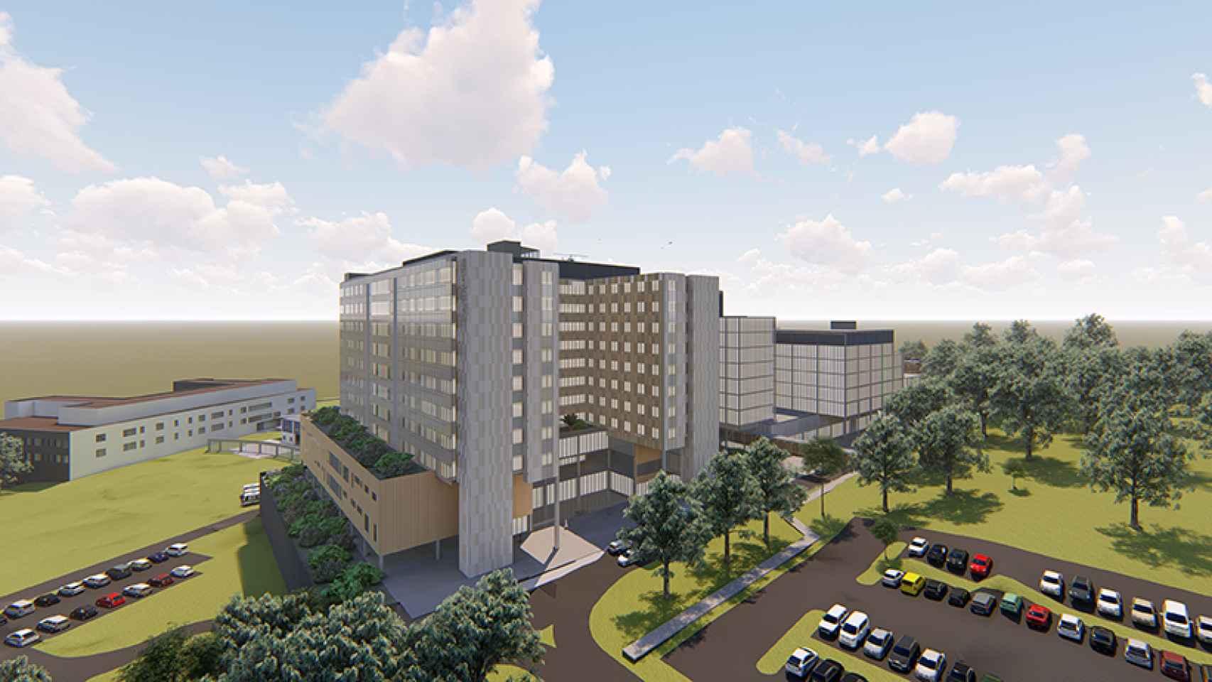 Imagen del proyecto de construcción que desarrollará CPB Contractors.