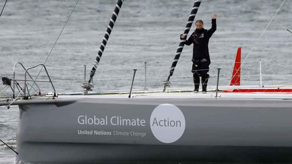 Thunberg navega a Nueva York en una embarcación prestada por Pierre Casiraghi