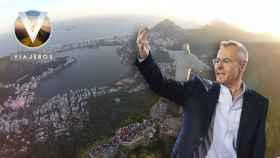 Jordi González en un montaje frente a Río de Janeiro.