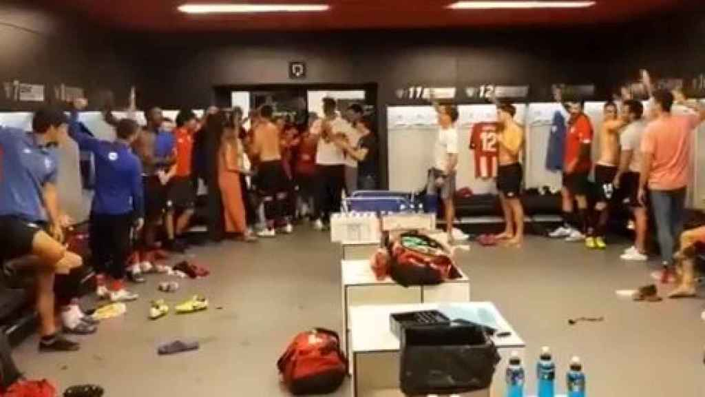 Recibimiento de los jugadores del Athletic a Aduriz