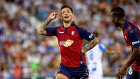 Chimy Ávila, tras su gol al Leganés