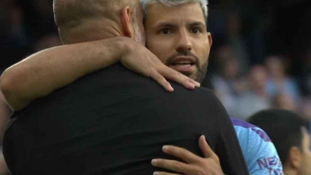 Kun Agüero y Guardiola hacen las paces tras su bronca