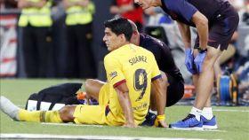 Luis Suárez se lesiona ante el Athletic
