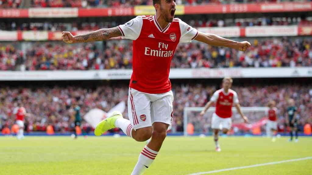 Dani Ceballos, en un partido del Arsenal en la Premier League