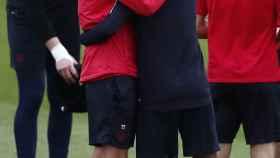 Tuchel y Neymar durante una sesión de entrenamiento del PSG