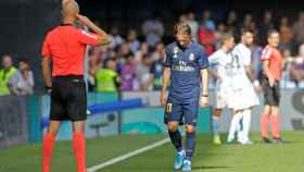 Luka Modric expulsado ante el Celta de Vigoo