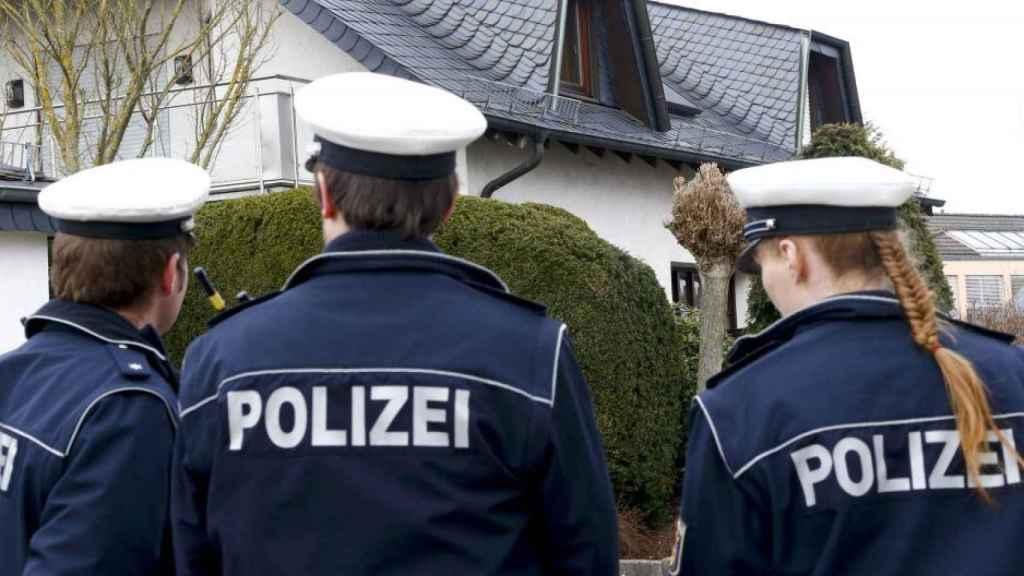 Agentes de la policía alemana.