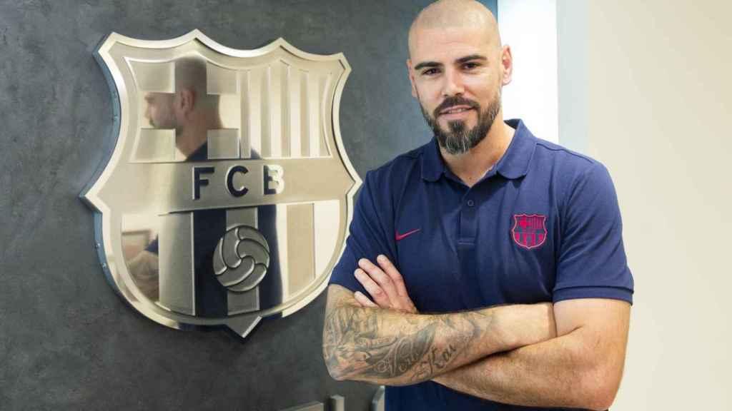 Víctor Valdés, entrenador del Juvenil A del Barcelona. Foto: fcbarcelona.es