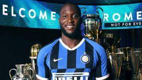 Romelu Lukaku, en su presentación con el Inter